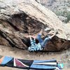 Mikie moving into the crux of Through Painted Deserts.