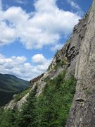 Rock Climbing Photo: Black line is Black Knight. Red is Lady Slippers. ...