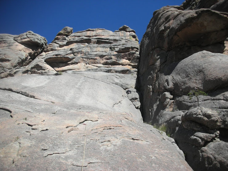 Rock Climbing Photo: On Sept 2, 2010, Ross Swanson and I climbed the bi...