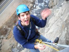 Rock Climbing Photo: At the hanging belay atop Pitch 1. Trad gear will ...