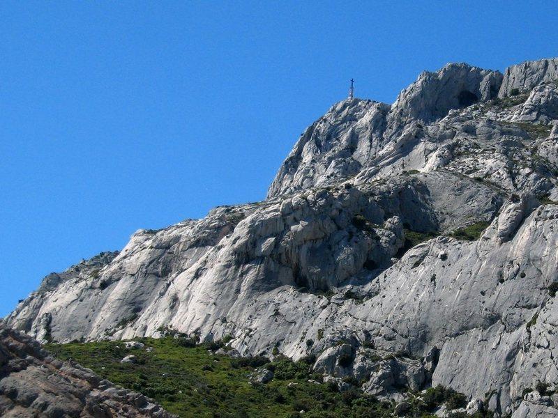 Rock Climbing Photo: Croix de Provence atop Sainte Victoire