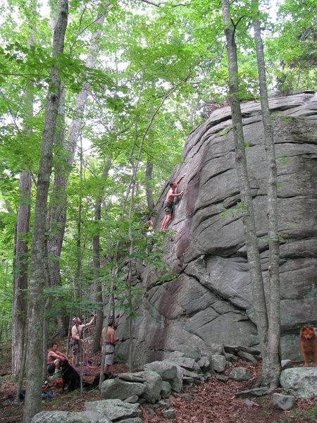 Rock Climbing Photo: the slabby wall