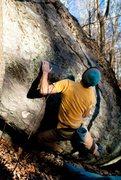 "Rock Climbing Photo: Parlier on the FA of ""Dizzy Days""(V2ish)"