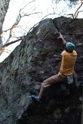 Rock Climbing Photo: Aaron James Parlier on the final cross over to the...