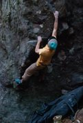 "Rock Climbing Photo: Parlier on the FA of ""Crucible"" (left fo..."