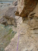 Rock Climbing Photo: The line I trail behind for rappelling wrapped aro...