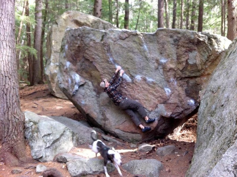 Rock Climbing Photo: Stretched out on Four Hole