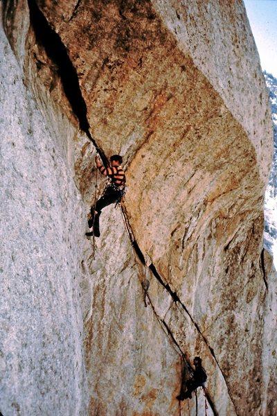 Rock Climbing Photo: Jim Langdon leading and Mark Ward belaying on the ...
