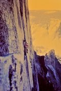 Rock Climbing Photo: On the third day of Half Dome - just below Big San...