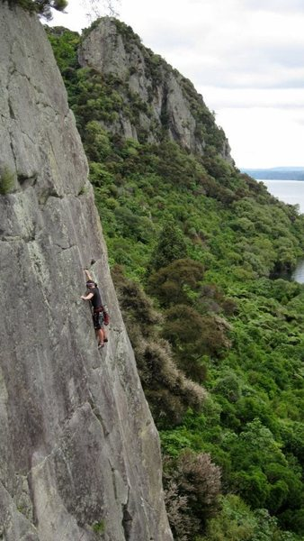 Rock Climbing Photo: Jo Frances on Gecko Groove