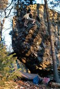 """Rock Climbing Photo: Parlier high on """"A Boy Named Sue"""" on the..."""