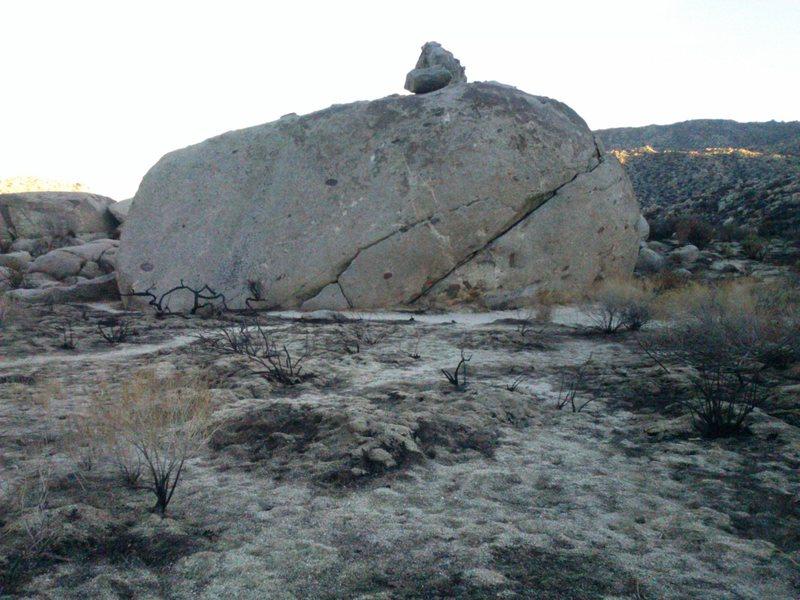 Rock Climbing Photo: Vector Crack, Culp Valley post Wilson fire, Dec 15...