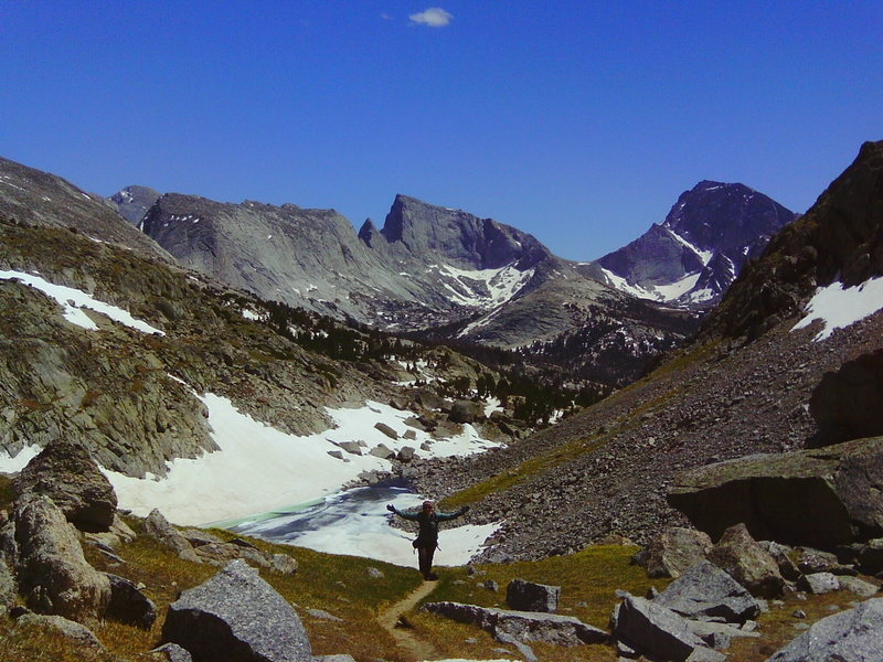 Rock Climbing Photo: Jackass Pass, Wind River Range WY