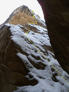 Rock Climbing Photo: Route just under snow