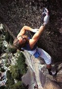 Rock Climbing Photo: Ray Jardine on The Phoenix (5.13a), Yosemite Valle...