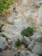 Rock Climbing Photo: The hardest 5.11 at Sandrock! Excellent route whic...