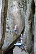 Rock Climbing Photo: One of the best routes at Sandrock!