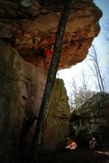Rock Climbing Photo: Great route but super painful!  Bring extra tape f...