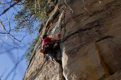 Rock Climbing Photo: upper half of the route!