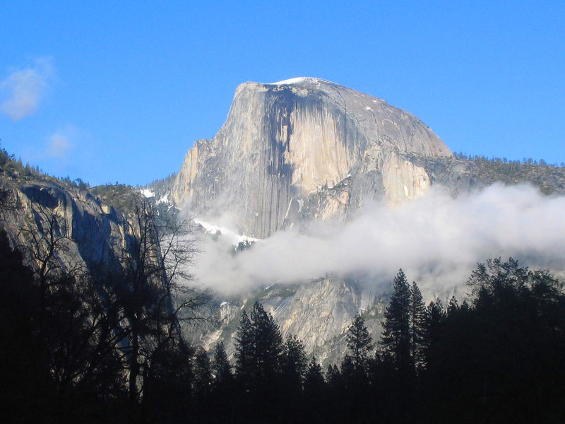 Half Dome after snow storm