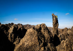 Rock Climbing Photo: Climbing the finger.