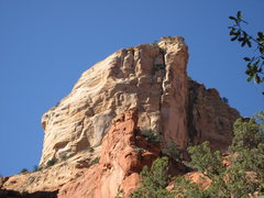 Rock Climbing Photo: route from approach.  Big tan buttress/ wide crack...