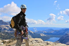 Rock Climbing Photo: On the summit with Half Dome in the distance.
