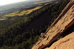 Rock Climbing Photo: Randy soloing.