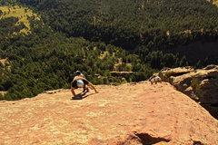 Rock Climbing Photo: Scrambling up to the summit.