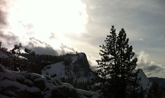Rock Climbing Photo: Lover's Leap after a decent dusting of snow.  Take...