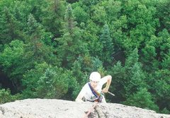 Rock Climbing Photo: Dick Tucker, on the summit Prow way back when.