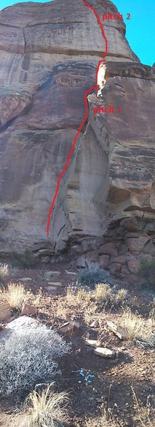 Rock Climbing Photo: Proposed route.