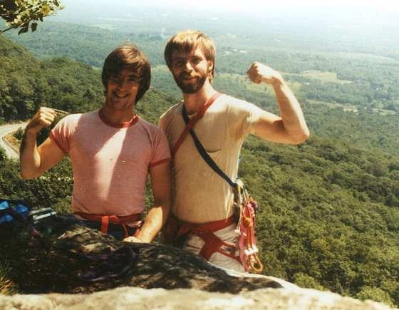 With Rick Schaut at the top of some fun Gunks route.