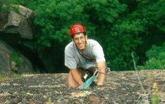 Rock Climbing Photo: Jason Brechko on Straits of Fear, ca. 2000