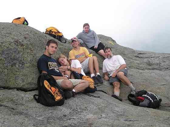Rock Climbing Photo: With the kids+1 on the summit of Mt. Marcy, 2005. ...