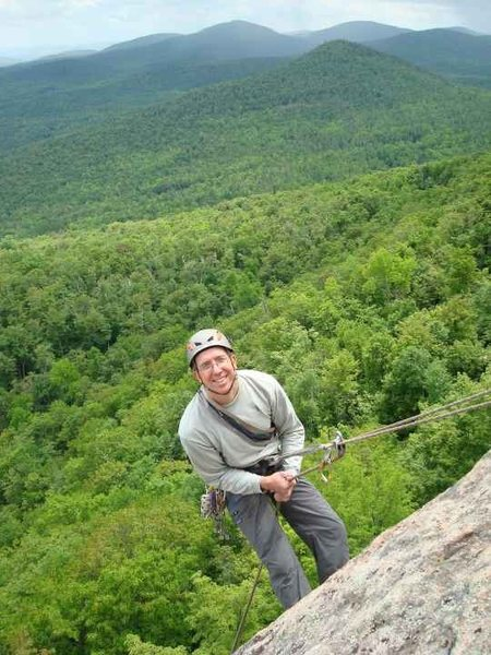 Rock Climbing Photo: The irrepressible Doc Livingston heading down from...