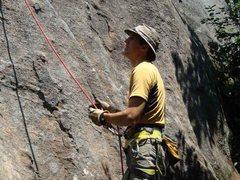 Rock Climbing Photo: Jim belaying during a Crane Day.