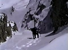 Rock Climbing Photo: Old VHS screen capture of John Fujii coming up the...