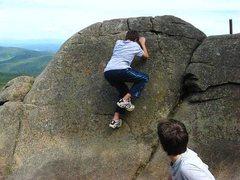 Rock Climbing Photo: Nephews Eric and Adam Fiacco, bouldering along the...