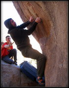 Rock Climbing Photo: working some moves on relic