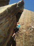Rock Climbing Photo: Katie climbs Unconquerable.