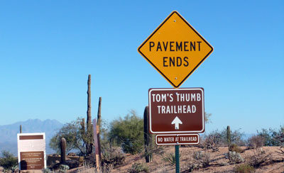 Rock Climbing Photo: Follow the signs to the new trailhead...
