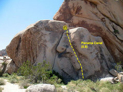 Rock Climbing Photo: Panama Canal (5.8), Joshua Tree NP