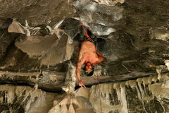 Rock Climbing Photo: Chaz Ott climbing the steeps in the center of the ...