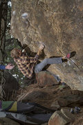 Rock Climbing Photo: Welcome To The Darkside at Pine Mountain. Photo cr...