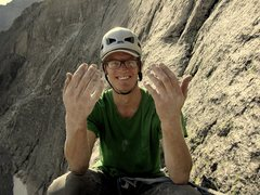 Rock Climbing Photo: Broken right pinky on Birds of Fire.