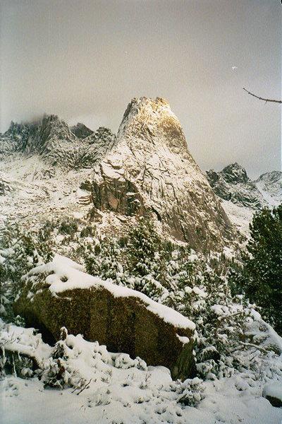 Rock Climbing Photo: Pingora, Wind River Wilderness, WY. 1999