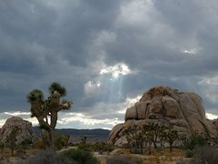 Rock Climbing Photo: Interesting clouds in Hidden Valley CG, Joshua Tre...