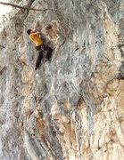 Rock Climbing Photo: last move is tough.