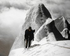Rock Climbing Photo: Nearing the summit - Wishbone Arete is on the left...